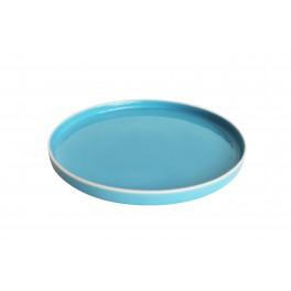 Tallerken - Cirkel Blå